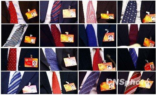 两会细节:代表委员的七色领带