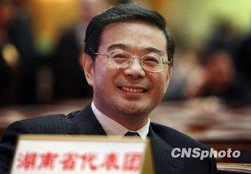 在北京参加十一届全国人大三次会议的湖南省长周强。中新社发任晨鸣摄