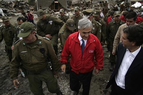 智利新总统忙重建 各地余震接连不断(图)
