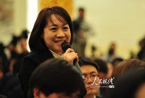 图文:台湾《联合报》记者提问