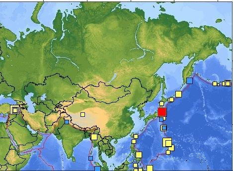 日本发生6.6级强烈地震 震源深度26.4公里