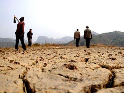 组图:广西部分地区达到特大干旱等级