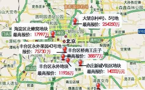 央企延续疯狂 保利50.4亿抢下大望京地块