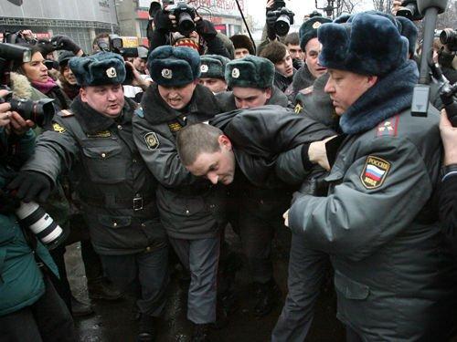 俄罗斯爆发全国反普京集会抗议生活水平下滑