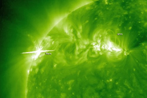 美宇航局日地天文台捕捉太阳风暴壮观场面