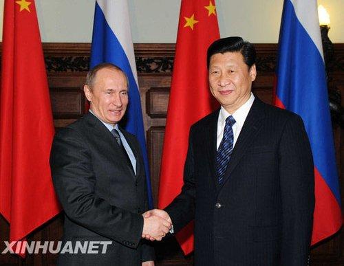习近平同俄总理、统一俄罗斯党主席普京举行会谈