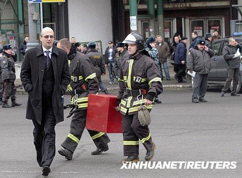 莫斯科地铁2次爆炸已致35人死33人伤(图)