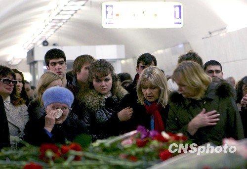 现场直击:莫斯科哀悼地铁恐怖爆炸遇难者