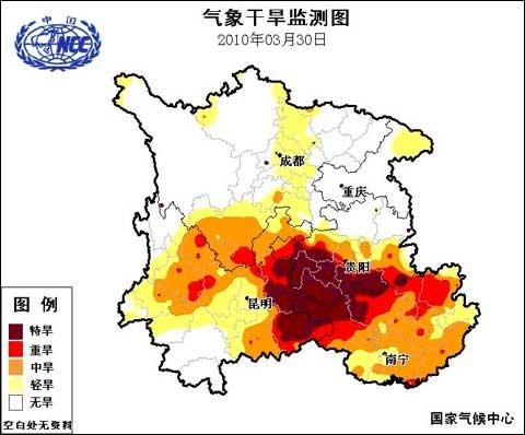 未来两天西南旱区干旱仍将持续