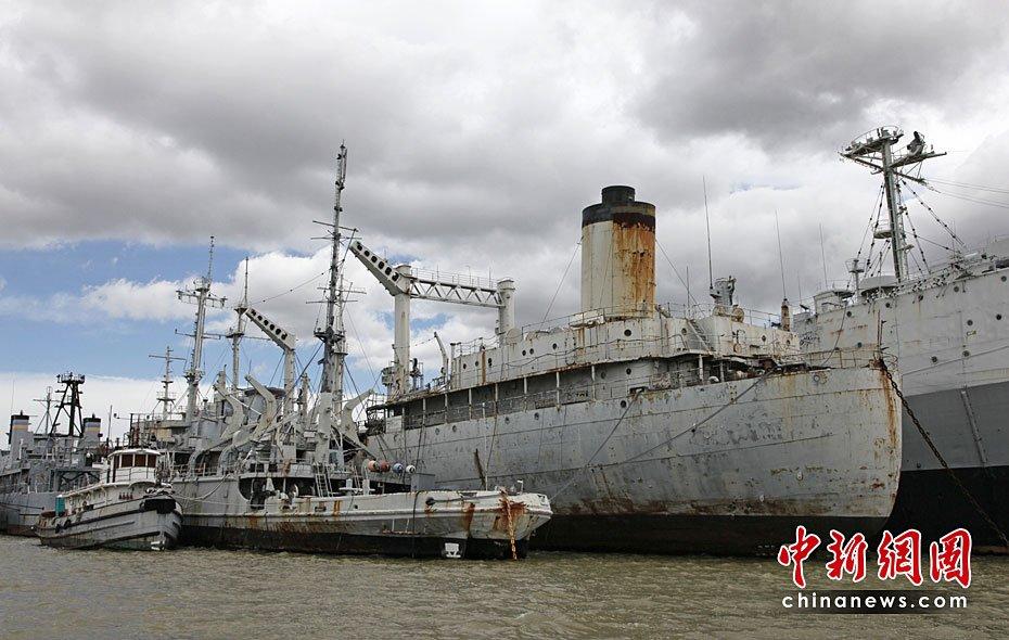 """高清图:美国""""幽灵舰队""""成为污染源头"""