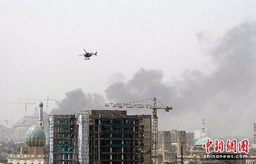 图:巴格达发生针对大使馆的爆炸袭击