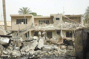伊朗驻伊拉克使馆附近房屋在爆炸中严重损毁