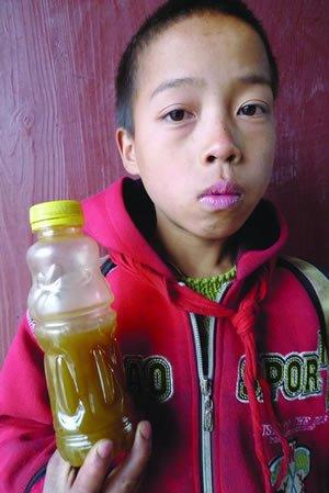 村民在沼泽地找到水源 学生喝蜂蜜解渴(组图)