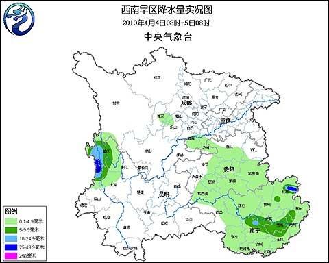 贵州广西降小雨 近期还有两次降雨过程