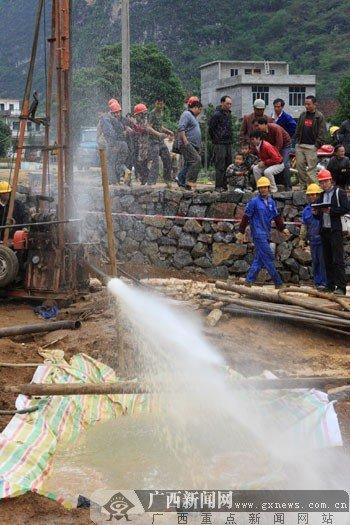 广西国土部门抗旱找水打井工作取得突破