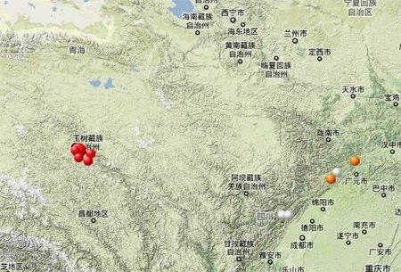 组图:青海玉树县今晨发生7.1级地震