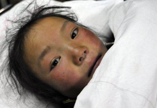 7岁的甘顿琼珠。