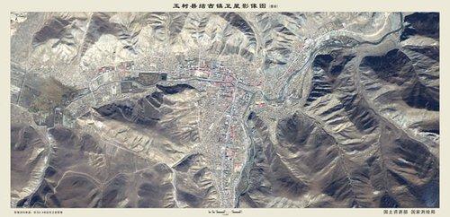 结古镇震前卫星影像地图(点击图片可放大)