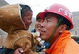 两名被困123小时地震遇险人员获救