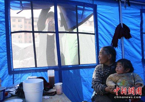 青海玉树地震:帐篷里的阳光生活