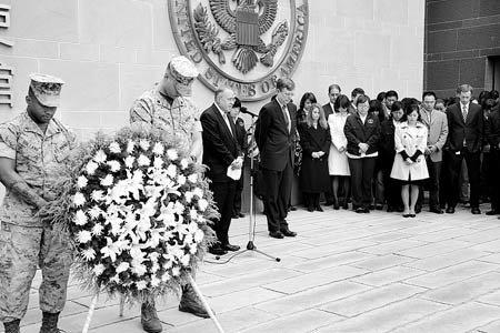 美法等多国驻华使馆下半旗向地震遇难者志哀