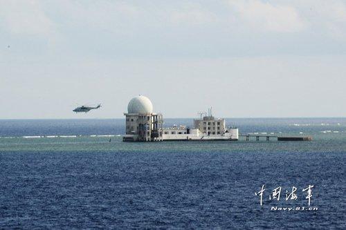 官方证实仁爱礁被中国实际控制 海军定期巡视