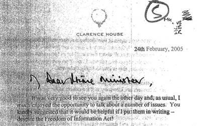 """英媒获准公开王子""""私信"""" 查尔斯陷入干政争议"""