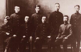 李大钊初到日本时与直隶同乡合影