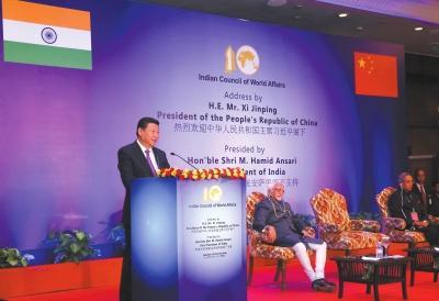 习近平在印度演讲:中国视周边为发展繁荣之基