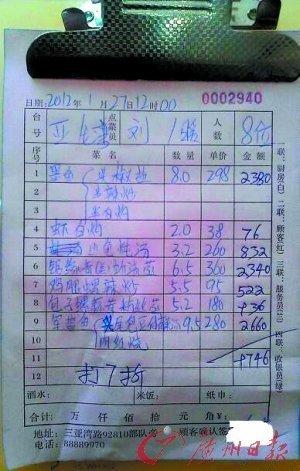 三亚海鲜餐厅7个菜要价近万元遭停业(组图)