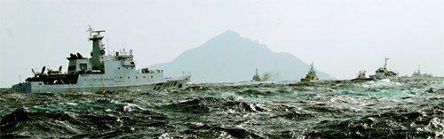 日本出动自卫队监控台渔船 保钓剑拔弩张(图)