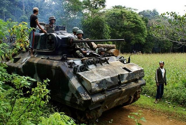 难道要防解放军登陆:菲军扩充装甲部队防中国 从美买二手装甲车