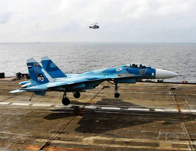 俄航母舰载机再次坠入地中海 这次出事的是苏33
