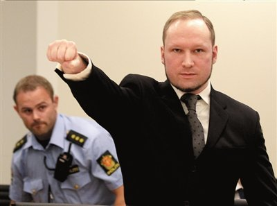 挪威枪手被判21年监禁 未惊讶称接受审判结果
