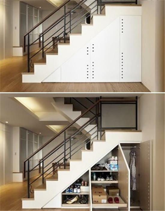 化身收纳小达人 楼梯下的空间也精彩