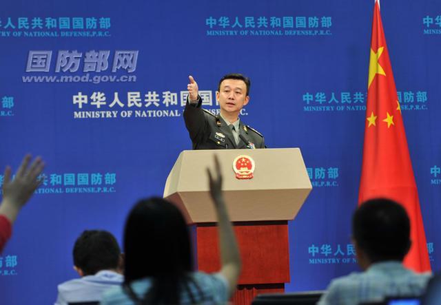 9月国防部例行记者会实录:吴谦上校首亮相