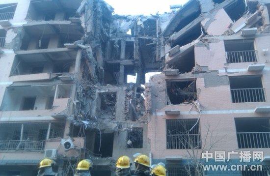 河北保定居民楼爆炸现场已有一名伤者被救出