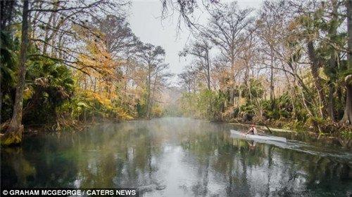 这条河流有11公里长,将当地森林分开。