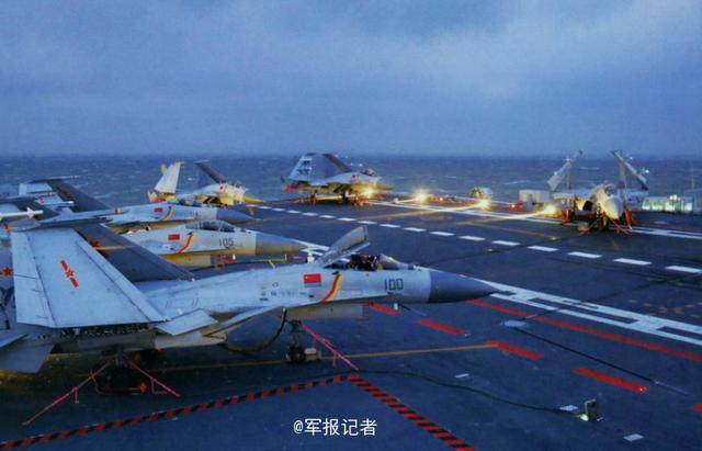 第一视角!跟着飞行员驾驶歼-15在辽宁舰起降
