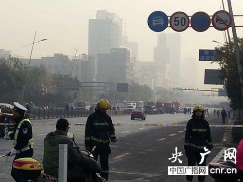 山西省委门口发生连环爆炸致1人受伤 现场封路