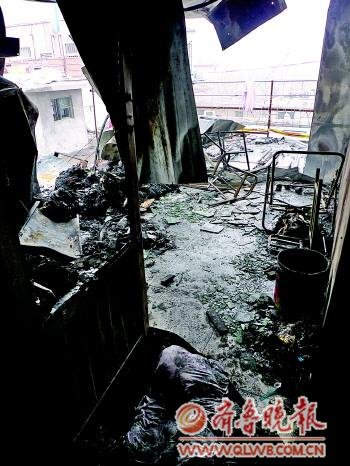 山东一宾馆疑被对街同行纵火 至少4人受伤(图)