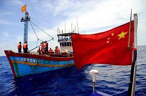 越南21名渔民侵入中国西沙领海炸鱼被扣并罚款