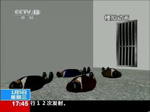 动画演示泰安两疑犯枪击警察逃窜过程
