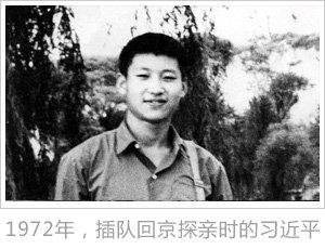 1972年,插队回京探亲时的习近平