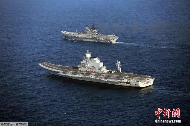 印度第3艘航母抵印度海岸 系23亿美元从俄购买