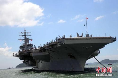 日媒:日本自卫队护卫舰将参加美航母联合演习