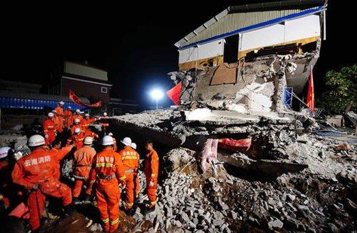 云南盈江地震灾区目前急需棉被血浆(图)