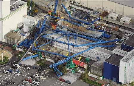 日本120米高摩天轮突然倒地 将卖给台公司湾(图)