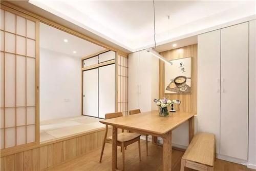 89㎡日式小两居,大爱餐厅旁的多功能榻榻米小房!图片