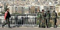 大马士革街头的军人